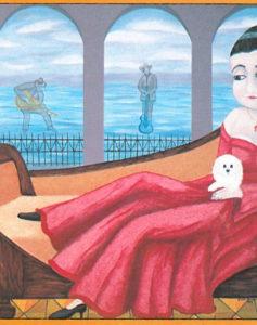 """Jessie's Girl- Oil/Acrylic on canvas 24"""" X 36"""""""