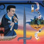 "The Bruce Act (featuring Lenny Bruce) - oil/acrylic on canvas 24"" X 30"""